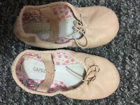 kids capezio leather ballet shoes 11M