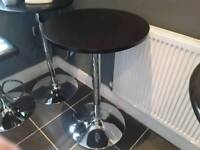 3 adjustable bar tables