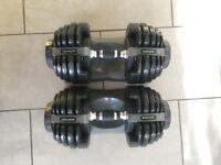 Bowflex dumbbells. 2-21kg