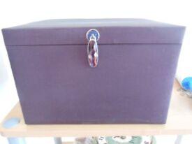 Boutique Large Purple Taffeta Jewellery Box