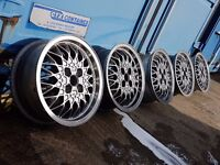 "15"" BBS RA 4X100PCD VW MK2 GTI ALLOY WHEELS - RARE SET OF 5 GENUINE VW STAMPED WHEELS RS RM OZ G60"