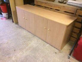 Sideboard in pale wood 4 doors