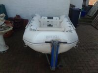 Rib Speed boat - White. Water skis, ores life jackets and trailer included
