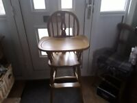Childs pine high chair