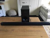 Samsung 120w sound bar and external subwoofer