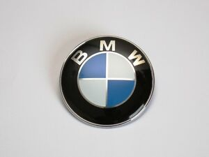 NEW BMW Bonnet Boot BADGE Emblem 82mm 2 pin 1 3 5 6 7 Series E46 E90 E60 E39 E28