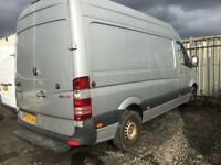 Mercedes sprinter 313cdi mwb spare parts available bumper bonnet wing light radiator prop shaft spr