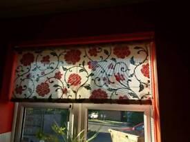 Beautiful Red Flower Print Roller Blind
