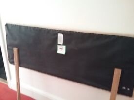 Double bed head board,suede effect ,beige colour, excellent condition
