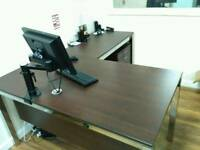 Office L shape desk , drawer and chair