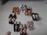 Selection of new shoes and sandals from Next, M&S, Cath Kidston. Size 5 to 6 (38 to 39).