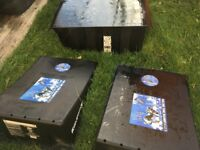 2 large bmx/skateboard ramps and bridge for sale