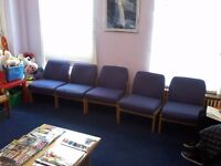 13 Chairs - FREE Waiting Room Chairs - Free on Collection - Job Lot - W1 Weymouth Street