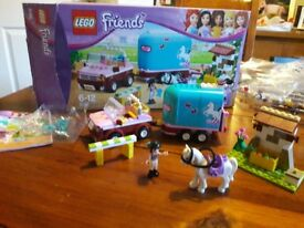 REDUCED..Lego Friends 3186: Emma's Horse Trailer