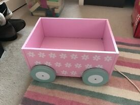 Pink book cart
