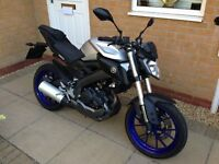 2016 YAMAHA MT 125 / ABS MODEL / SILVER *** LOW MILEAGE ***