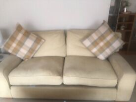 Cream couch and 2 chairs
