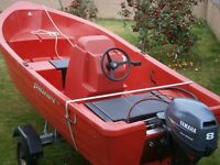 Pioner 13 boat, engine and trailer (plus extras)
