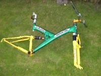 """Barracuda """"Slalom"""" front and rear suspension mountain bike FRAME"""