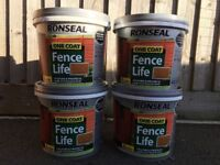 Ronseal one coat fence life 'harvest gold'. (4*5 litres)