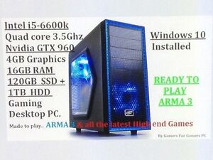 Intel i5-6600k,Nvidia GTX960 4GB, 16 GB RAM Gaming PC Fairview Park Tea Tree Gully Area Preview