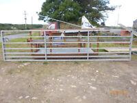 2x Galvanized yard gates + posts