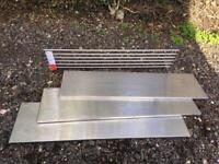 IKEA Stainless steel kitchen rack and shelves