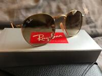 Rayban Metal Round RB3447 Gold/Green 'GENUINE' UNISEX BRAND NEW