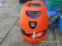 Spanish camping bottle, 6 kg Repsol with regulator and adapter.