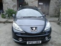 Peugeot 207sw 1.6vti sport moted till end of Jan 2019 vgc 121500 miles had new clutch fitted