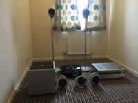 Projector, Screen, Speakers & AV Unit