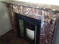 Large Antique fireplaces for sale ,marble cast iron,wood