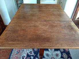 Victorian drop leaf oak table