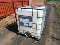 Ibc 1000 litre tank been used for water for livestock stables farm