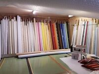 Roller blind, cutting bench,Materials ,braids Components ETC.