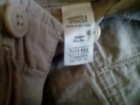 Mens m+s blue harbour cargo shorts 34 ins waist.