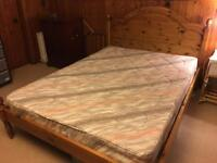 Double size bed with mattress