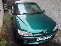 *** Peugeot 306 1.8 Sport Convertible Cabrio * Starts and Drive * No MOT * 2002 * 51140 miles ONLY