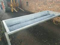 Double cattle cow feeding trough fully galvanised farm tractor
