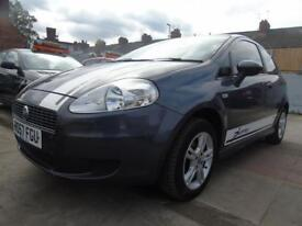FIAT GRANDE PUNTO 1.2 ACTIVE 3d FULL SERVICE LOW MILES **3 MONTHS WARRANTY INCLUDED** (grey) 2007
