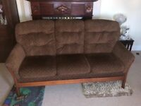 Cintique Suite 3 seater sofa and 2 arm chairs