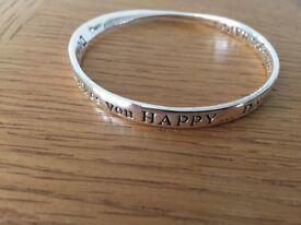 Silver coloured bracelet