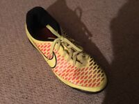 Nike Magista Astro Turf Trainers Size 10 in good condition. One lace partially frayed.