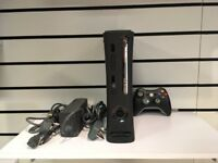 Microsoft Xbox 360 250 GB Black Console with controller and cables