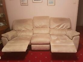 3 seater and 2 seater manual recliner sofas