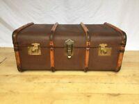 Vintage steamer trunk suitcase toy blanket box