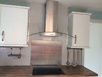 Silver & Glass cooker hood