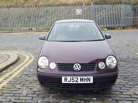 2002 Volkswagen Polo 1.2 Red 5dr Hatchback Manual Petrol MOT May2017 full service history 1owner