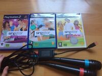Sing star PlayStation 2 games & microphones