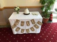 'Just Married' hessian bunting. Ginger Ray brand